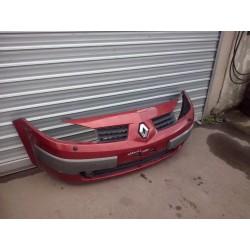 pare choc bouclier avant megane 2  2 phase1 de 2003 a 2006 couleur rouge nacree  5 et 3  portes vendu complet !!