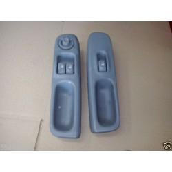 TWINGO 1 commande leve vitre electrique avant gauche + droit COMPLET gris