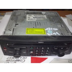 autoradio laser 307 sw navy mp3 parfait etat DE 2007 ref 96614497xt voir photo